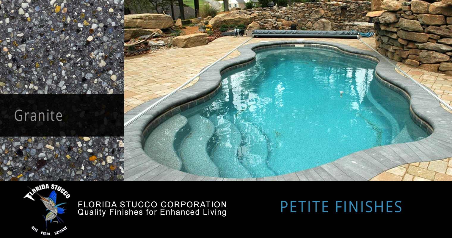 petite pool finishes granite